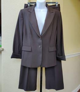 Alex Marie Rich Dark 2pc  Brown Pant Suit.